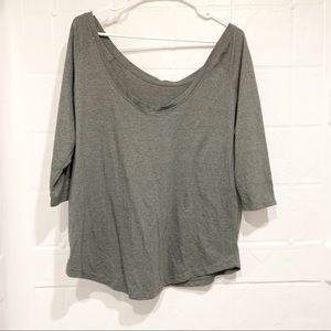 Fabletics off the should 3/4 sleeve Top Shirt